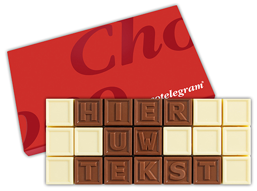 Chocotelegram 21 letters | Barry Callebaut chocolade | UTZ