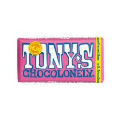 Tony's Chocolonely chocoladereep 180 gram wit framboos knettersuiker